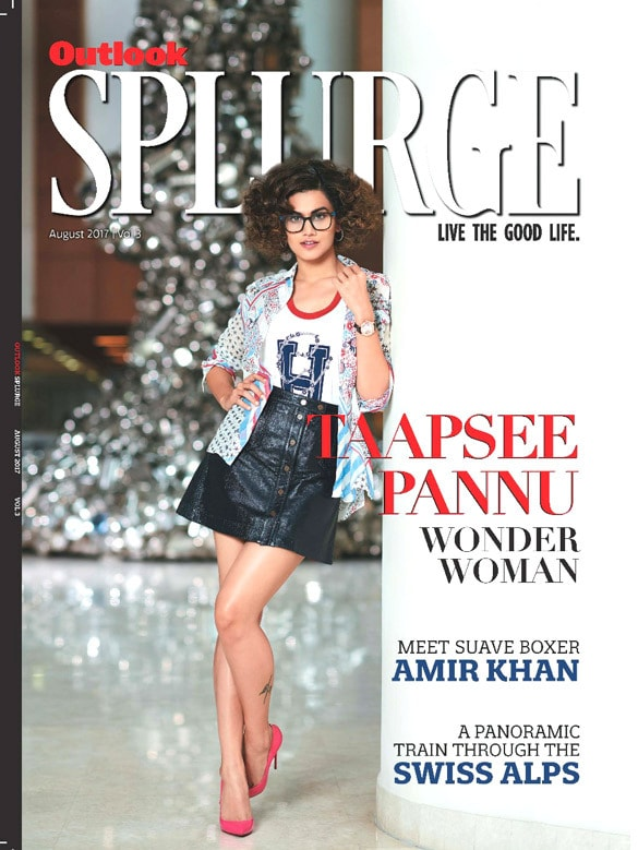 Taapsee Pannu on Splurge Magazine Cover