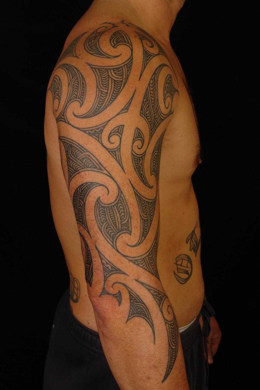 What Is A Maori Tattoo: MAORI POLYNESIAN TATTOO: Maori 3/4 Sleeve On Shane