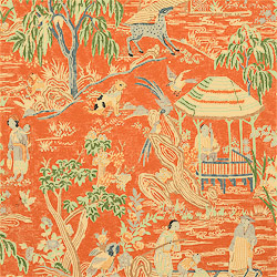 Chinoiserie Chic Touches of Orange Chinoiserie