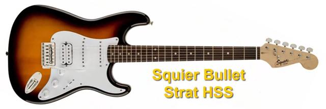 Squier Bullet Strat HSS Guitarra Eléctrica