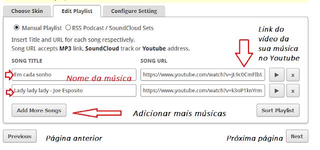 Escolha música para o seu blog