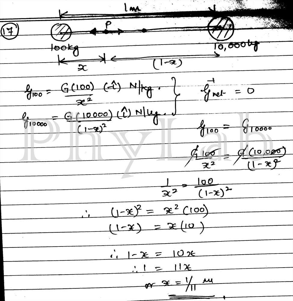 PhyLab-Educate: Solution to Gravitation Numerical pg 2
