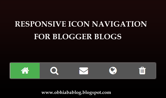 Responsive Icon Blogger Navigation Menu