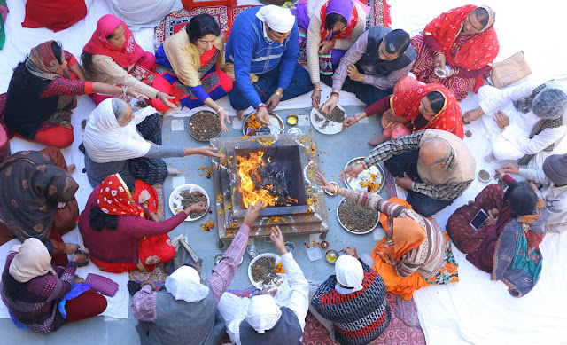 Conclusion of the Ram Katha organized by Human Services Committee with Yagya, Havan and Bhandara