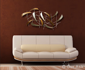 Golden Color Metal Wall Art
