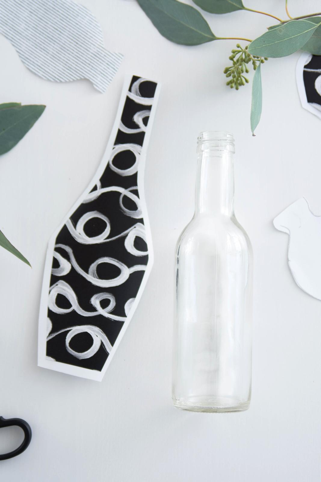 DIY Quickie: Vasen Silhouetten