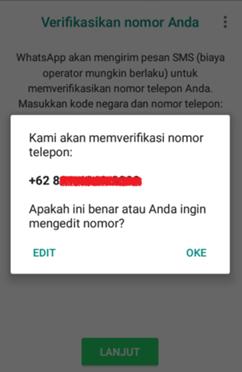 Verifikasi Nomor WhatsApp Bisnis
