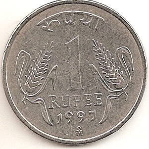 The Specimen Given Here Is A One Ru 1997 Issue From This Mint Only Year When Supplied These Coins To India