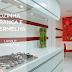 Cozinha pequena e moderna, branca e vermelha com layout corredor!