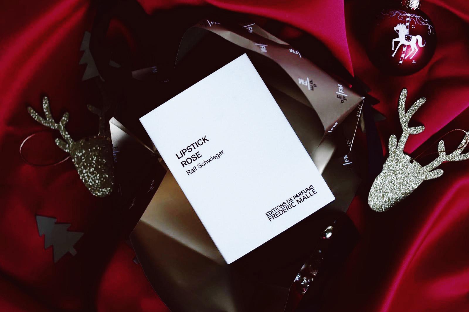 frederic malle lipstick rose parfum avis test edition limitée noel 2018
