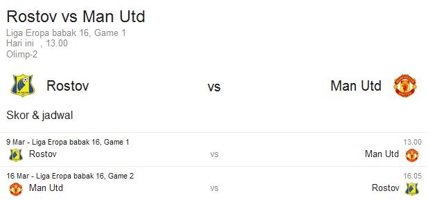 Prediksi FC Rostov vs Manchester United | Polisibola.com