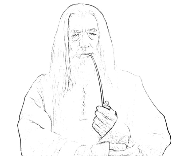 gandalf the gray coloring pages - photo#17