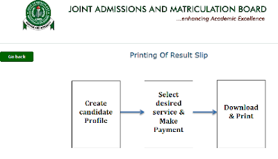 New way to Print Jamb Admission Letter