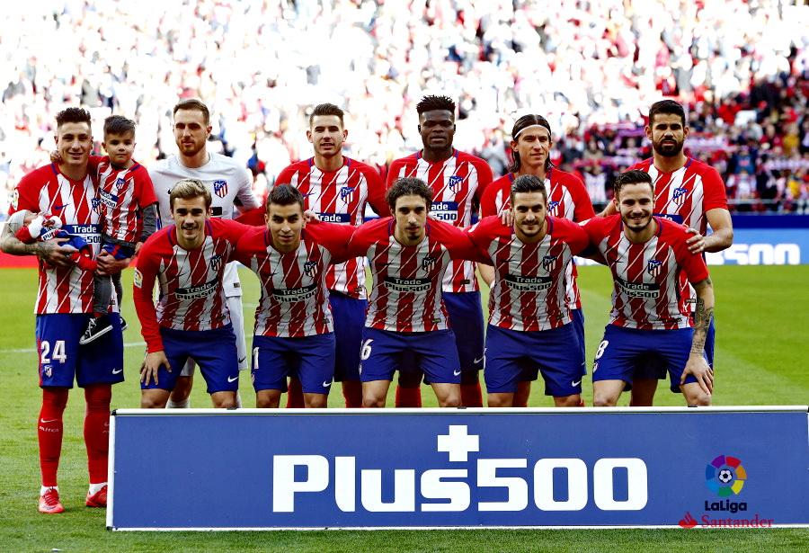 EQUIPOS DE FÚTBOL: ATLÉTICO DE MADRID contra Athletic de Bilbao 18/02/2018 Liga de 1ª División