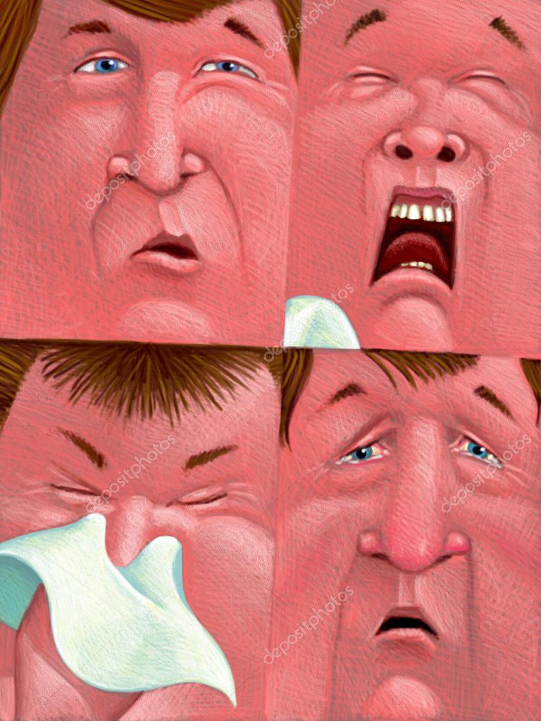 allergy symptoms in adults breathing