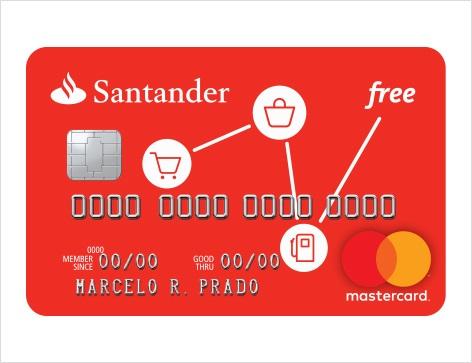 Cartão de crédito Free Santander Mastercard