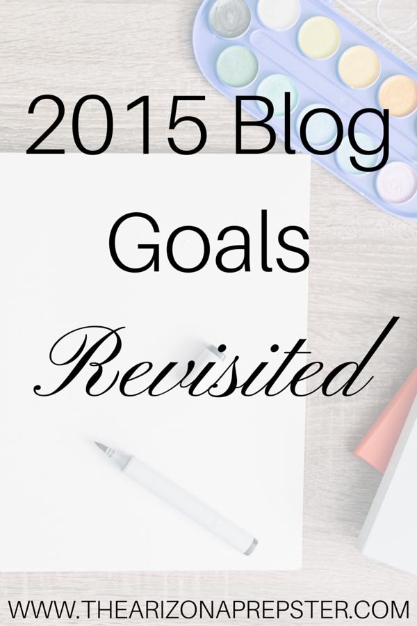 2015 Blog Goals Revisited
