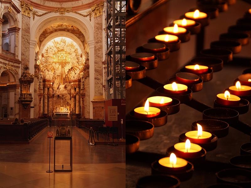 In der Karlskirche Wien, Österreich