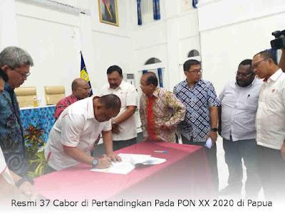 Resmi 37 Cabor di Pertandingkan Pada PON XX 2020 di Papua