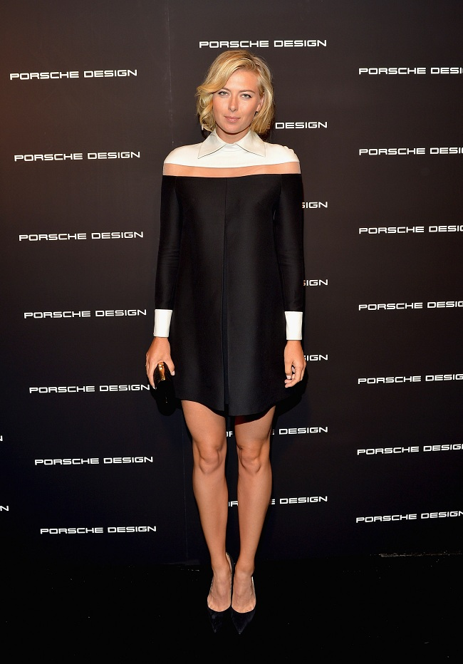 maria sharapova fashion, valentino dress