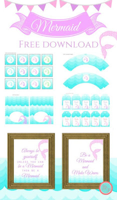 mermaid birthday printables