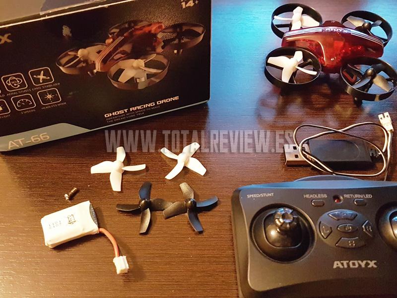 mini drone barato atoyx2 - Unboxing del dron ATOYX AT-66: el mejor mini drone barato
