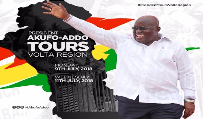President Akufo-Addo Embarks On 3-Day Tour Of Volta Region