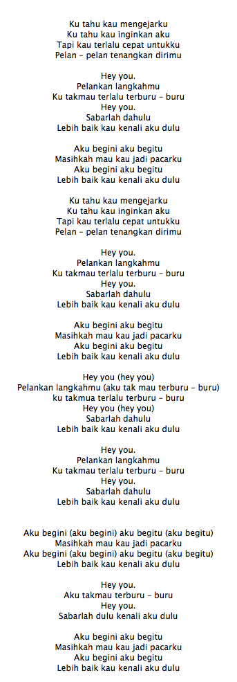 Lirik Lagu The Nelwans Hey You