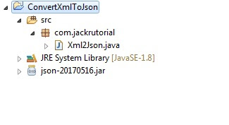 Convert XML To Json Project Structure