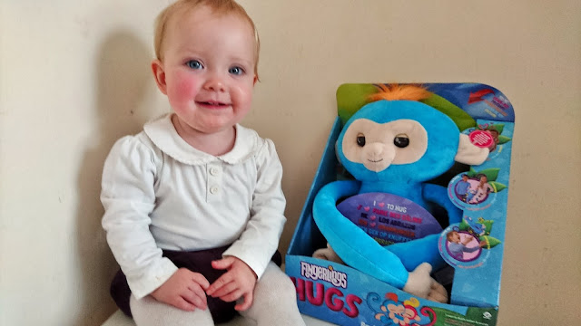Fingerlings Hugs Review on Us Two Plus You - Scarlet with Boris the Monkey