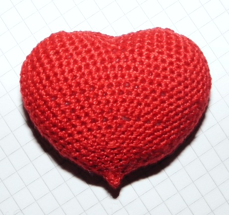 Schema cuore amigurumi italiano | Crochet heart pattern ... | 433x462