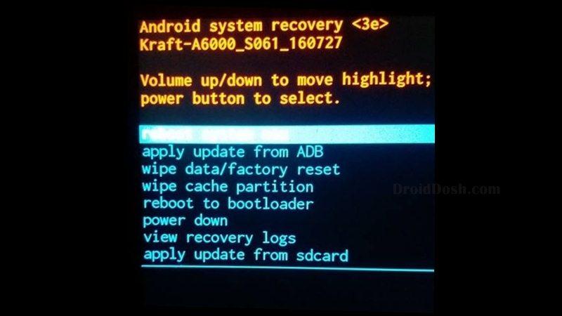 Recovery Lenovo A6000 S062