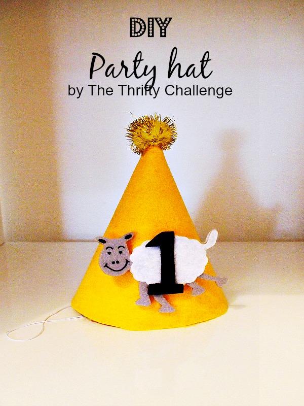DIY Party Hat {from Contributor Lisa} #partyidea #partyhatidea #partyhat