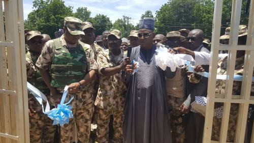 Chief of Air Staff and the Governor of Borno State in Bama