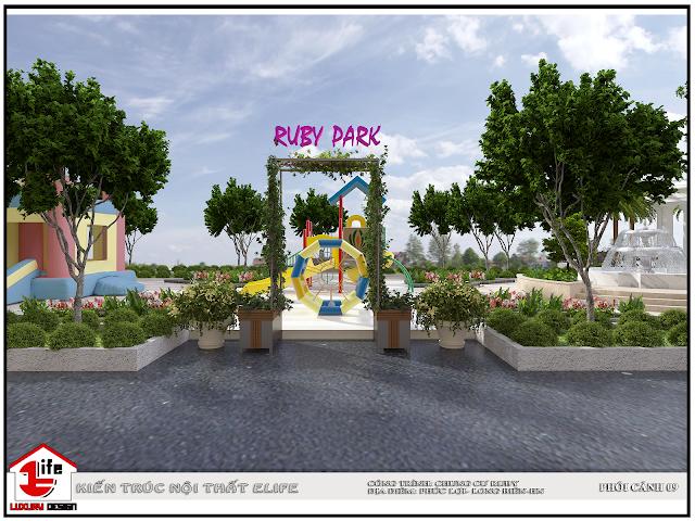 Khu công viên tại dự án