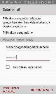 Cara Paling Mudah Setting Email Domain Diperangkat Android