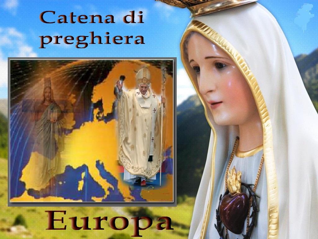 ✝ ✝ Catena di preghiera per proteggere l'Europa e per la pace del mondo, 13 maggio