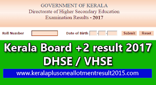Kerala higher secondary result check, online Plus two result 2017, Kerala results Plus two, kerala hse result 2017