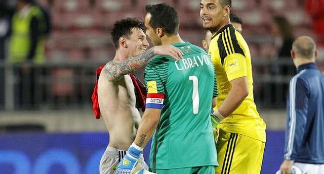 Bravo: Chile Tidak Peduli Dengan  Messi