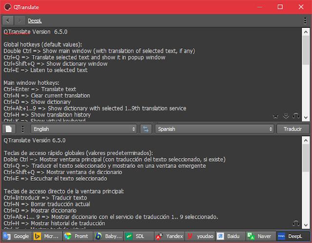 QTranslate 6.5.0 Portable | Un completo y liviano traductor gratuito online