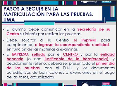 Información UMA Accceso Universidad (Aplicable al curso 2018/2019)
