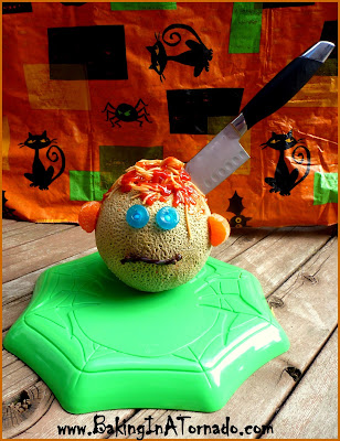 Spaghetti Brains: A fun Halloween dinner presentation. Easy to follow directions. | Recipe developed by www.BakingInATornado.com | #recipe #dinner #Halloween