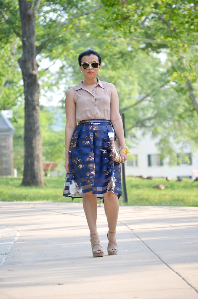 Floral Print Skirt-MariEstilo-Look of the day-Outfit para un evento especial-Fashion Blogger-Style inspiration-DC Blogger- Moda El Salvador- ArmandHugon-falda estampado floral
