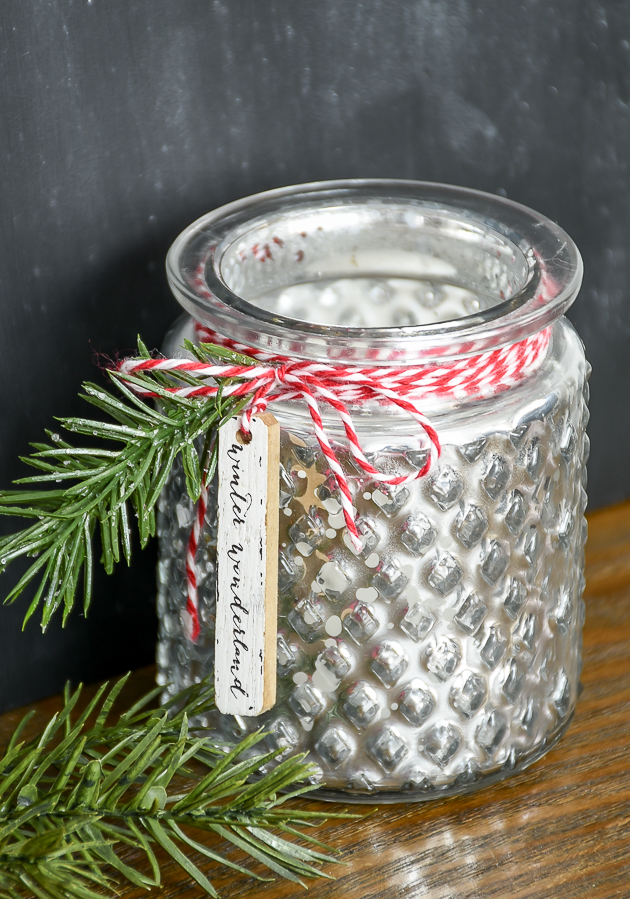 Christmas, votive holders, Dollar Tree, Luminaries, Christmas decor, Dollar Tree makeovers