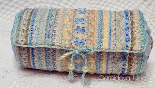 Винтажная сумочка. Вышивка декоративными швами.
