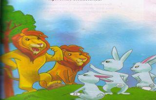 fábula: Las liebres y los leones