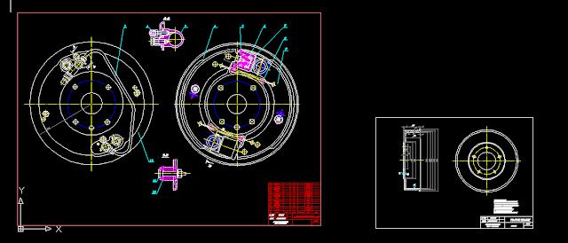 Bản vẽ thiết kế hệ thống phanh cho xe tải cỡ nhỏ