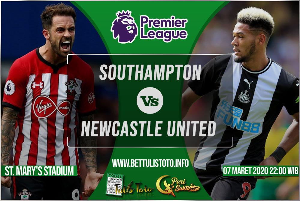 Prediksi Southampton vs Newcastle United 07 Maret 2020
