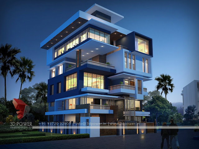 Contemporary bungalow exterior designs post modern for Super modern house design
