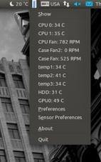 ubuntu temperature